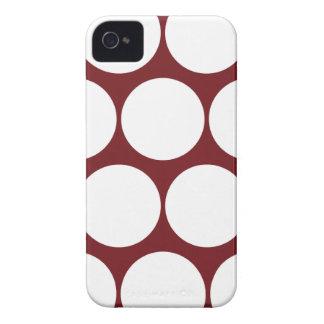 Dark Red Large Polka Dot Iphone 4/4S Case