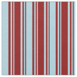 [ Thumbnail: Dark Red & Light Blue Stripes/Lines Pattern Fabric ]