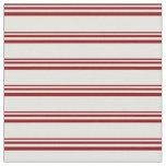 [ Thumbnail: Dark Red & Light Cyan Colored Stripes Fabric ]