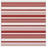 [ Thumbnail: Dark Red & Light Cyan Pattern Fabric ]