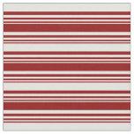 [ Thumbnail: Dark Red & Light Cyan Stripes Fabric ]