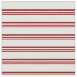 [ Thumbnail: Dark Red & Light Cyan Stripes Pattern Fabric ]