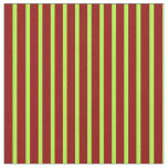 [ Thumbnail: Dark Red & Light Green Colored Stripes Pattern Fabric ]