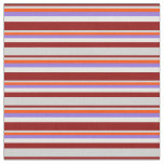 [ Thumbnail: Dark Red, Light Grey, Red, Purple, and White Fabric ]