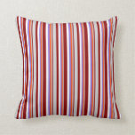 [ Thumbnail: Dark Red, Light Grey, Red, Purple, and White Throw Pillow ]