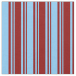 [ Thumbnail: Dark Red & Light Sky Blue Colored Lines Pattern Fabric ]