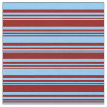 [ Thumbnail: Dark Red & Light Sky Blue Colored Pattern Fabric ]