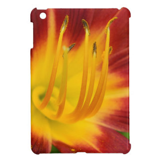 Dark red lily flower macro photo iPad mini cover