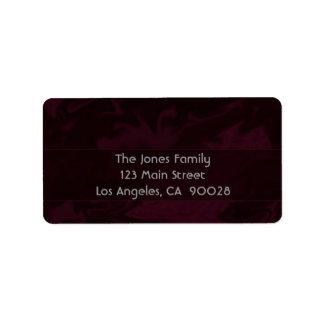 Dark red Marble Design Label