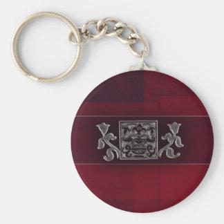Dark red / marron - Indian accents Keychain