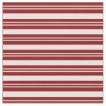 [ Thumbnail: Dark Red & Mint Cream Striped Pattern Fabric ]
