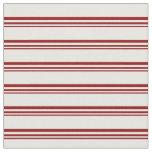 [ Thumbnail: Dark Red & Mint Cream Stripes Pattern Fabric ]