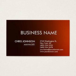 Dark Red Orange Plain Modern Business Card