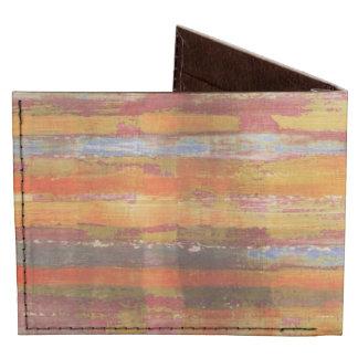 Dark Red/ Orange/ Purple Color Striped Pattern Tyvek Wallet