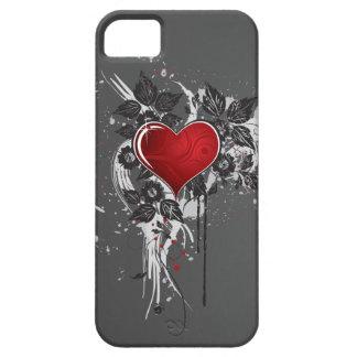 Dark Red Ornate Heart iPhone SE/5/5s Case