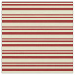 [ Thumbnail: Dark Red & Pale Goldenrod Colored Stripes Fabric ]