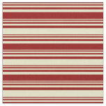 [ Thumbnail: Dark Red & Pale Goldenrod Lines Pattern Fabric ]