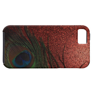 Dark Red Peacock Still Life iPhone 5 Cover