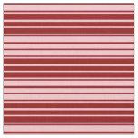 [ Thumbnail: Dark Red & Pink Stripes Fabric ]