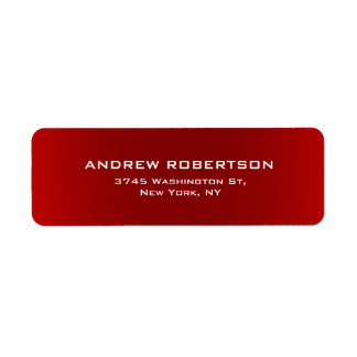 Dark Red Plain Elegant Minimalist Simple Label