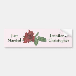 Dark Red Rose Bumper Sticker