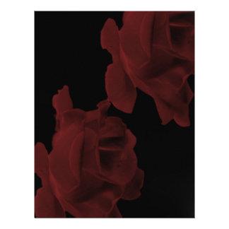 Dark Red Rose Letterhead
