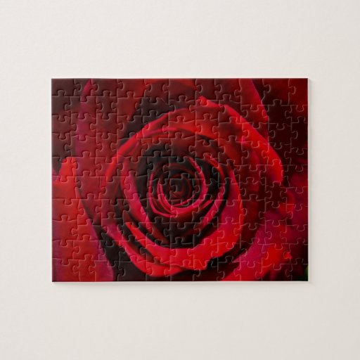 Dark Red Rose puzzle
