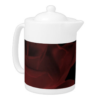 Dark Red Rose Tea Pot