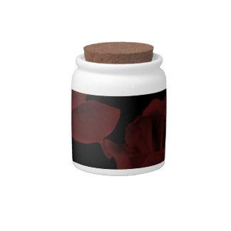 Dark Red Roses Candy Jar