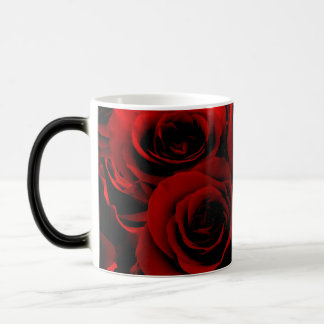 Dark Red Roses For you Magic Mug
