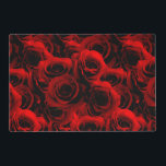 """Dark Red Roses For you Placemat<br><div class=""""desc"""">Romance is in full bloom. Full of velvety tones of reds the petals softly layered on top of each other,  you can almost smell the delicate perfume of the Deep Red Rose. A Vintage feel with a full splash of modern color!</div>"""