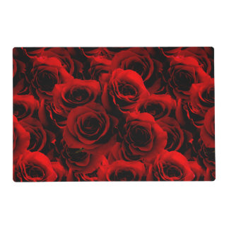 Dark Red Roses For you Placemat