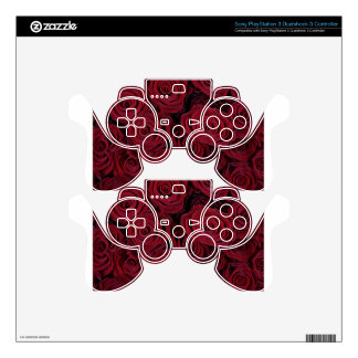 Dark red roses PS3 controller skins