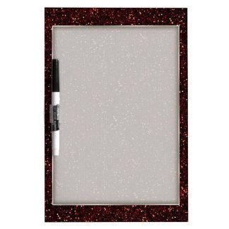 Dark Red Ruby Glitter Dry-Erase Board