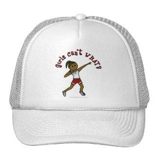 Dark Red Shot Put Mesh Hats