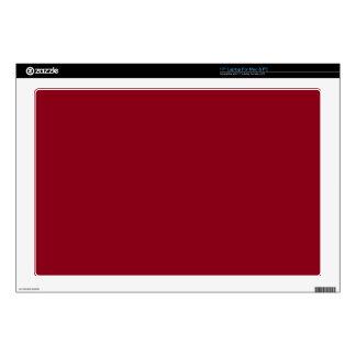 "Dark Red 17"" Laptop Decal"