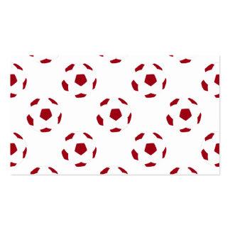 Dark Red Soccer Ball Pattern Business Card