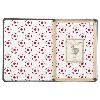 Dark Red Soccer Ball Pattern iPad Air Cases