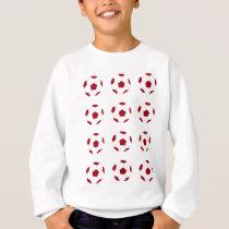 Dark Red Soccer Ball Pattern Sweatshirt