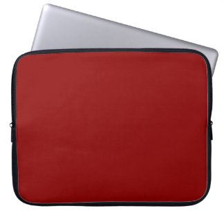 Dark Red Solid Color Laptop Sleeves