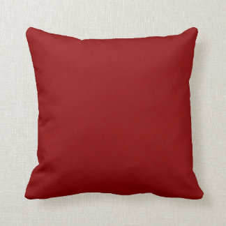 Dark Red Solid Color Throw Pillow