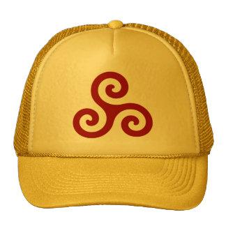 Dark Red Spiral Triskele Hat