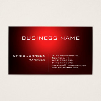 Dark Red Stylish Charming Manager Business Card