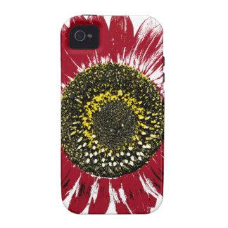 Dark Red Sunflower Case-Mate iPhone 4 Case