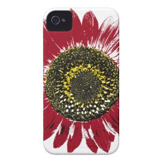 Dark Red Sunflower iPhone 4 Covers