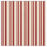 [ Thumbnail: Dark Red & Tan Colored Pattern Fabric ]