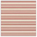 [ Thumbnail: Dark Red & Tan Colored Stripes Pattern Fabric ]
