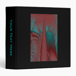 Dark Red, Teal and Turquoise Abstract Design. Binder