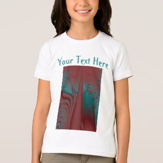 Dark Red, Teal and Turquoise Abstract Design. T-Shirt