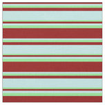 [ Thumbnail: Dark Red, Turquoise & Light Green Colored Pattern Fabric ]